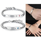 His Queen Her King Stainless Steel His and Hers Love Couple Bracelet Bangle Nice