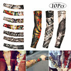 10Pcs Cooling /Tattoos Arm Sleeves Sun UV Protection Cover Golf Sport Basketball