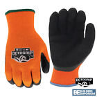 Thermal Gloves 10g Latex Palm Poly Cotton Safety Work Gloves Builders