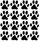 "16 X 2.5"" Paw Prints, Cat Dog, Vinyl Wall Sticker, Self Adhesive Decal"