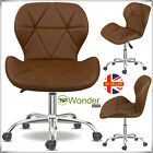 Lift Swivel PU Leather Cushioned Chair Computer Office Desk Studio Salon Barber
