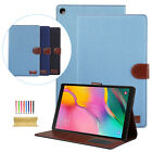 """For Samsung Galaxy Tab A 10.1"""" T510/T515 Canvas Flip Magnetic Leather Case Cover"""
