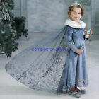 Girls Kid Frozen 2 Princess Elsa Fancy Dresses Up Cosplay Costumes Party Outfit