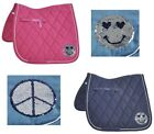Schabracke Fun Busse pink oder navy Wendepailetten Smiley Peace Wow-Effekt TOP!