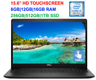 "2020 Dell 15.6"" Touchscreen Laptop I5-8265u (>i7-7500u),up To 16gb Ram & 1tb Ssd"