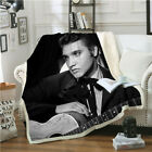 Singer Elvis Presley 3D Print Sherpa Blanket Sofa Couch Quilt Cover Throw Fleece