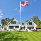 20ft Aluminum Sectional Flagpole Kit Halyard Pole Outdoor 2x American Flags JG