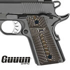 Guuun G10 Grips for 1911 Compact / Officer, Sunburst Texture - 6 Color Options