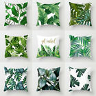 Tropical Plants Palm Leaf Monstera Cushion Covers Decorative Throw Pillow Case