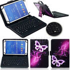 """Pattern Leather Case Cover Micro USB Keyboard For 7"""" 8"""" 9.6"""" 10.1"""" Tablet PC New"""