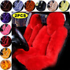 2PCS Genuine Australian Sheepskin Fur Long Wool Car Front Seat Cover Winter Warm $97.29 USD on eBay