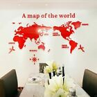 Creative World Map Acrylic Decorative 3D Wall Sticker For Living Room Bedroom Of