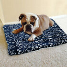 Printed Pet bed cushion Washable Blanket Dog Blue Winter Warm Cute Comfortable