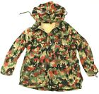 GENUINE SWISS ARMY SNIPER COMBAT JACKET in 1960's ALPENFLAGE CAMO