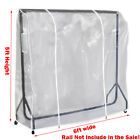 Clear Quality Clothes Garment Rail Protective Waterproof Cover-10 Size Available