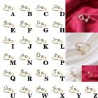 Exquisite Fashion 26 English Alphabet Style Ring Letter Fashion Copper Ring XI