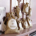 New Baby Countdown Hessian Hanging Gift Sacks For Mum To Be Baby Shower Sacks