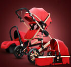Baby Stroller 3 In 1 Carriage High Landscape Pram Foldable Pushchair & Car Seat