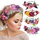 Adjustable Women's Flower Headband Crown Hairband Wedding Bridal Wreath Festival