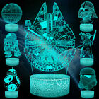 Star Wars 3D LED Optical Illusion Night Light 16 Colors Desk Lamp for Kids GIFT $3.38 USD on eBay