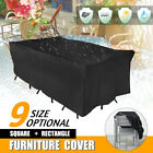 9 Size Waterproof Outdoor Patio Garden Furniture Cover Rain Snow Uv Table Chair