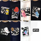 BTS BT21 Official Authentic Goods Space Squad Short Sleeve T-Shirts + Tracking #