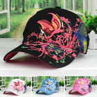 Lady Summer Baseball Cap Women Flowers Butterfly Embroidered Golf Hat