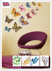 12pcs Colourful Butterfly Wall Stickers Decors Wall Art Wall Home Decorations Uk