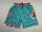 New Men's Memphis Grizzlies just don basketball pants shorts retro mesh green on eBay