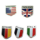 1x Britain/Italy/France/Germany Flag Logo Metal Car Truck Sticker Tail Emblem $1.9 CAD on eBay