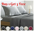 Egyptian Microfiber 1900 Count Fitted Sheet Ultra Soft Deep Pocket Bed Top Sheet image