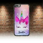 Unicorn Kids Personalised PHONE CASE COVER any Name iPHONE 4 5 6 6s 7 8 plus x..
