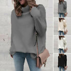 Womens High Turtle Neck Knitted Sweater Winter Baggy Jumper Tops Pullover 2020