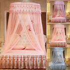 Ceiling-Mounted Mosquito Net Free Installation Dome Foldable Bed Canopy Princess image