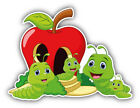 "Funny Worm Family Car Bumper Sticker Decal  -  ""sizes''"