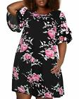 Nemidor Women's Ruffle Sleeve Jersey Knit Plus Size Casual Swing Dress with Pock