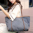 Women Ladies Big Canvas Shoulder Shopping Tote Beach Satchel School Handbag Bag