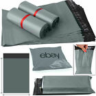 Strong Grey Mailing Bags Poly Packing Plastic Postal Postage Self Seal 21X24 UK
