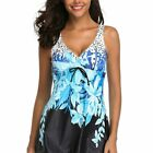 Women Plus Size Tankini Separates Swimwear Beachwear Swim Skirt Swimsuit Shorts