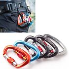 5pcs 25KN Carabiner Screw Hook Karabiner D-Shape Rock Climbing Caving Rescue Kit