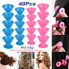 40x Magic Silicone Hair Curlers Rollers No Clip Formers Styling Curling DIY Tool