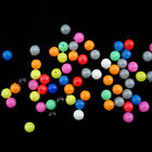 100 Pcs 6/8mm Round Soft Glow Rig Beads Floating Float Tackles Lure Fishing C8d3