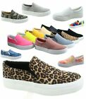 Women's Slip On Double Layer Foam Padded Cushion Fashion Sneakers Size 5.5 - 11