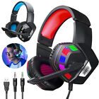 For PS4 Laptop Xbox one Gaming Headset Stereo Surround Headphone 3.5mm Wired Mic