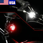 Rechargeable USB Bicycle LED Head Tail/Rear Light Bike Front Back Headlight Set