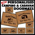 Funny Doormat Novelty Door Mat Birthday Home Glamping caravan tent HAPPY CAMPERS