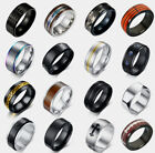 New Oz Men Fashion Punk Black Silver Gold Titanium Steel Ring Band Collections