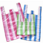 HD STRIPED VEST CARRIER BAGS SUPERMARKET STYLE FALCON MEDIUM 10 x 15 x 18