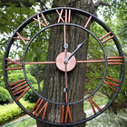 Large Outdoor Antique Garden Wall Clock Big Roman Numerals Giant Open Face  ↻ z