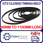 GT2 Closed Timing Belt 6mm Wide 2mm Pitch, 96mm to 1100mm Long 3D Printer CNC